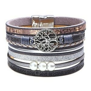 Jewelry - Tree of Life, multi level leather bracelet